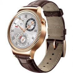Smartwatch Huawei 42MM Otel Inoxidbil Auriu Si Curea Piele Maro