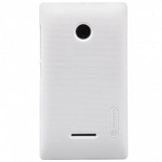Husa plastic Microsoft Lumia 532 Nillkin alba Blister Originala - Husa Telefon