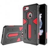 Husa plastic Apple iPhone 7 Nillkin Defender Neagra Rosie Blister Originala - Husa Tableta