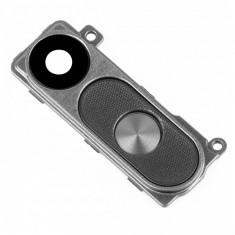 Geam camera spate cu rama si butoane gri LG G3 original