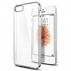 Husa plastic Apple iPhone SE Spigen Thin Fit 041CS20246 transparenta Blister Originala