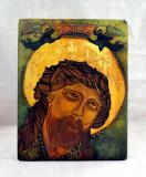 Icoana pe lemn pictata manual - Iisus Hristos - 24x18.5 cm #520
