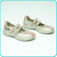 DE CALITATE _ Pantofi DIN PIELE, comozi, aerisiti, practici, BAMA _ fete | nr 30 - Sandale copii, Culoare: Din imagine, Piele naturala