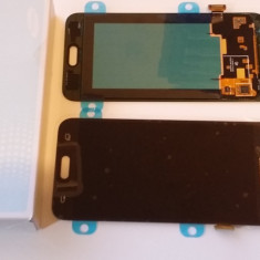 Display Samsung Galaxy J5 negru / 2015 / + folie sticla ecran complet - Display LCD