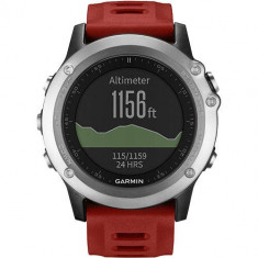Smartwatch Garmin Fenix 3 Multisport GPS HR Performance Bundle Curea Silicon Rosie
