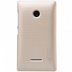 Husa plastic Microsoft Lumia 532 Nillkin aurie Blister Originala - Husa Telefon