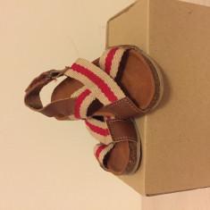 Încălțăminte piele Zara - Sandale copii Zara, Marime: 21, Culoare: Maro