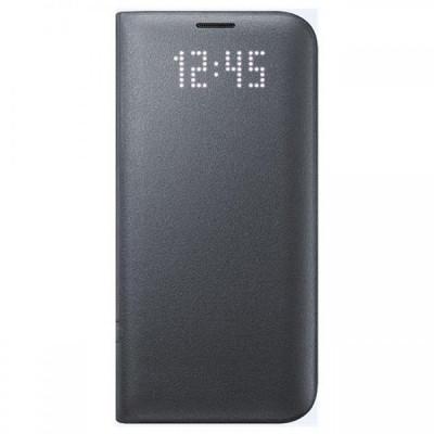 Husa piele Samsung Galaxy S7 edge G935 LED View EF-NG935PB Blister Originala foto