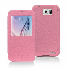 Husa piele Apple iPhone 5 Goospery Mercury WOW Bumper View roz Blister Originala - Husa Tableta