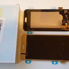 Display Samsung Galaxy J5 auriu / 2015 / + folie sticla ecran complet - Display LCD