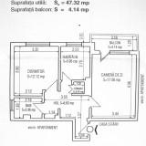 Apartament doua camere decomadate - Apartament de vanzare, 52 mp, Numar camere: 2, An constructie: 1977, Etajul 10