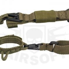 Curea tactica MP5/G3/M4 2 puncte Olive [8FIELDS] - Echipament Airsoft