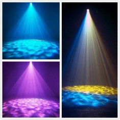 Laser led lumini disco rotative tip water shower Model nou ! RGB - Laser lumini club