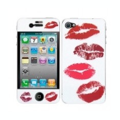 Kit personalizare telefon Apple iPhone 4 Red Lips - Sticker Telefon