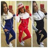 Trening adidas dama bumbac NEW YOUNG MODEL 2017 primavara - Trening dama Adidas, Marime: S, M, L, XL, XXL, Culoare: Albastru, Negru, Rosu