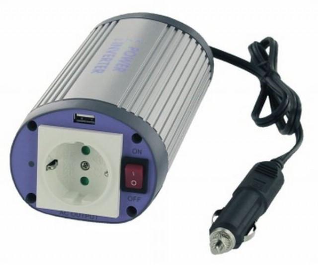 Invertor de tensiune cu USB Albrecht 150W 12V foto mare