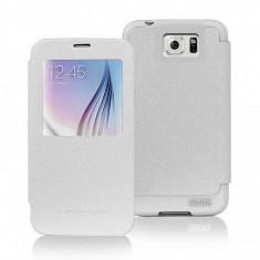 Husa piele Apple iPhone 6 Goospery Mercury WOW Bumper View alba Blister Originala - Husa Tableta