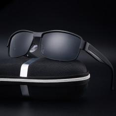 Ochelari Soare Barbatesti - Rama Metalica , Polarizati UV400 - Negru, Unisex, Protectie UV 100%, Metal