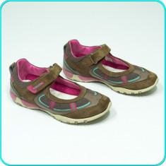 DE FIRMA _ Pantofi comozi, aerisiti, piele, de calitate, GEOX _ fete | nr. 34 - Pantofi copii Geox, Culoare: Din imagine, Piele intoarsa