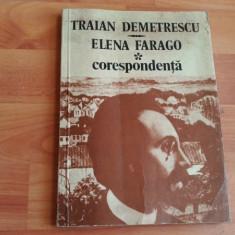 -CORESPONDENTA-TRAIAN DEMETRESCU -ELENA FARAGO - Biografie