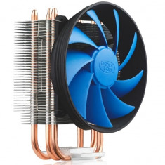 COOLER DEEPCOOL CPU, universal, soc LGA115x/775 & FMx/AMx/9xx/754, Al+Cu, 2x heatpipe, 100W - Cooler PC