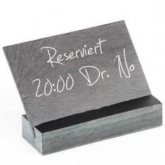 Semn rezervat pentru masa restaurant, din piatra - Afis