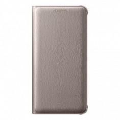 Husa piele Samsung Galaxy A5 EF-WA510PF Flip Wallet aurie Blister Originala - Husa Tableta