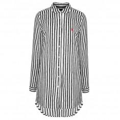 Camasa US Polo ASSN de dama, camasa lunga de plaja 100% bumbac - Camasa dama US Polo Assn, Marime: M, L, XL, XXL, Culoare: Albastru, Maneca lunga
