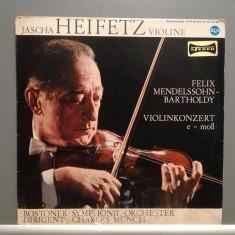 MENDELSSOHN- VIOLIN CONCERT-JASCHA HEIFETZ/BOSTON SYMPH.(1964/RCA/RFG)-VINIL/RAR - Muzica Clasica rca records