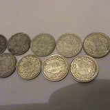 Colectie monede de argint Elvetia 1/2 franc, Europa
