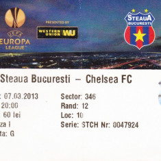 Bilet meci fotbal STEAUA BUCURESTI - CHELSEA FC 07.03.2013