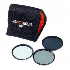 Kent Faith ND Kit 52mm - Kit filtre ND2+ND4+ND8 cu husa de transport - Filtru foto