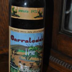STICLA DE VIN VECHI DE COLECTIE CARRATEDDA AN 1972 - Vinde Colectie, Aroma: Demi-sec, Sortiment: Alb, Zona: Europa
