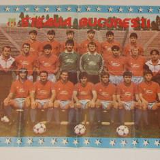 Poster fotbal STEAUA BUCURESTI-2 echipe pt.un trofeu CCE 1988/1989)