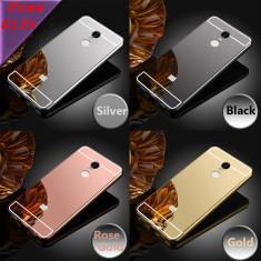 Husa / Bumper aluminiu + spate acril oglinda Xiaomi Redmi Note 4 / Note 4X - Bumper Telefon