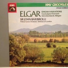 ELGAR - ENIGMA VARIATIONS - Sir J.BARBIROLLI(1982/EMI/UK)- Vinil/Vinyl/Impecabil - Muzica Clasica emi records