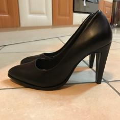 Pantofi cu toc Clarks negre - Pantof dama Clarks, Culoare: Negru, Marime: 35.5