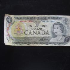 JN. 1 dollar 1973 Canada, nr 3 - bancnota america