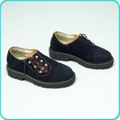 DE FIRMA → Pantofi DIN PIELE, comozi, fiabili, calitate HUMMEL → baieti | nr. 31 - Pantofi copii Hummel, Culoare: Bleumarin, Piele naturala