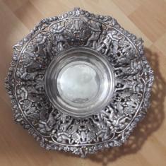 Fructiera din alama argintata - Metal/Fonta