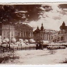 CLUJ NAPOCA PIATA UNIRII EGYESULESI TER KOLOZSVAR NR935 ILUSTRATIA GHERLA - Carte Postala Transilvania dupa 1918, Necirculata, Fotografie