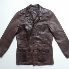 Geaca piele naturala Silver Creek Real Leather; marime M, vezi dimensiuni exacte - Geaca barbati, Marime: M, Culoare: Din imagine