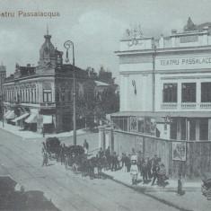 BRAILA, TEATRUL PASSALACQUA, TRASURI, TRAMVAI, CIRC. 1917 FELDPOST - Carte Postala Muntenia 1904-1918, Circulata, Printata