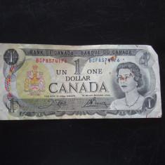 JN. 1 dollar 1973 Canada, nr 2 - bancnota america