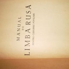 Manual De Limba Rusa Pentru Cursurile Populare/1961