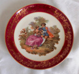 Farfurie - portelan Frantuzesc - Limoges - poleita cu aur - Fragonard