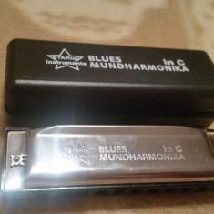 Muzicuta Blues Mundharmonika- 10 cm, in gama C