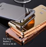 Husa / Bumper aluminiu + spate acril oglinda pentru Xiaomi Mi 4c / Mi4c