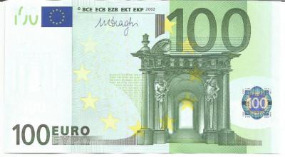 !!!  GERMANIA  - 100  EURO  2002 - P 18x  - UNC / CEA  DIN  SCAN foto