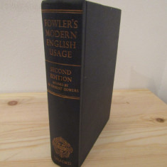 FOWLER'S MODERN ENGLISH USAGE.OXFORD, 1965